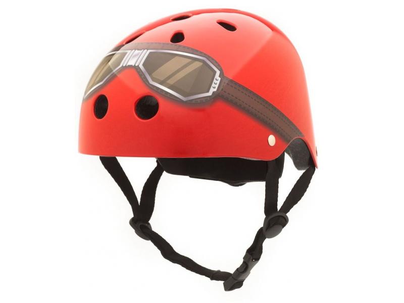 Dětská helma ČERVENÁ -GOOGLE, velikost S 1