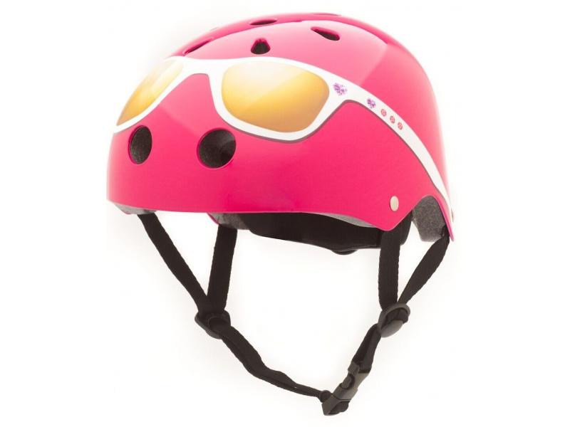 CoCoNuts Dětská helma RŮŽOVÁ- SLUNEČNÍ BRÝLE, velikost S