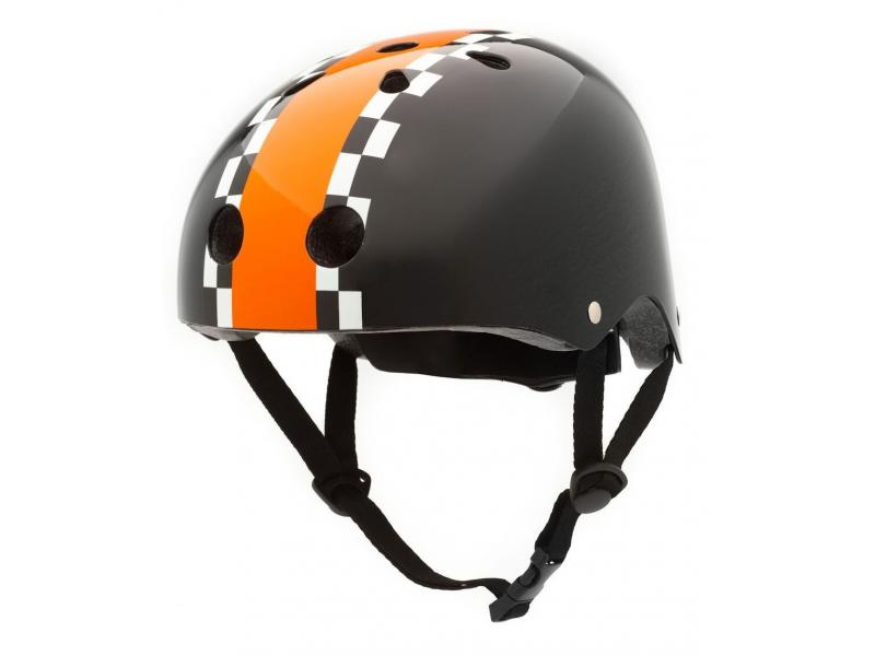 CoCoNuts Dětská helma ČERNÁ - ZÁVODNÍK, velikost M