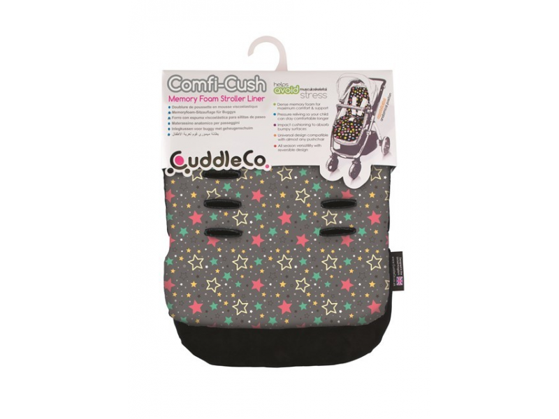 Cuddle Co Podložka do kočárku Multi Stars