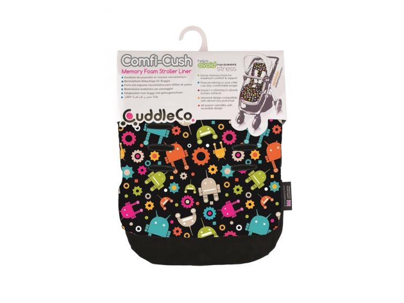 Cuddle Co Podložka do kočárku Černá+roboti