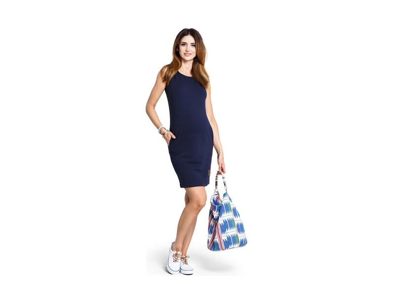 Happymum Těhotenské šaty Lemonade navy dress M 16bee8b977