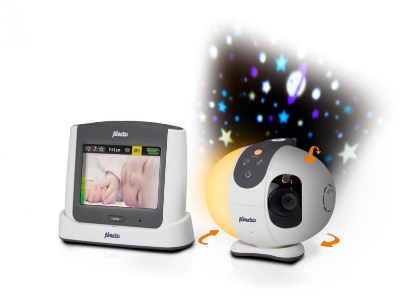 "ALECTO Dětská chůvička s kamerou, dotykovým displejem a projektorem (displej 3.5"")"