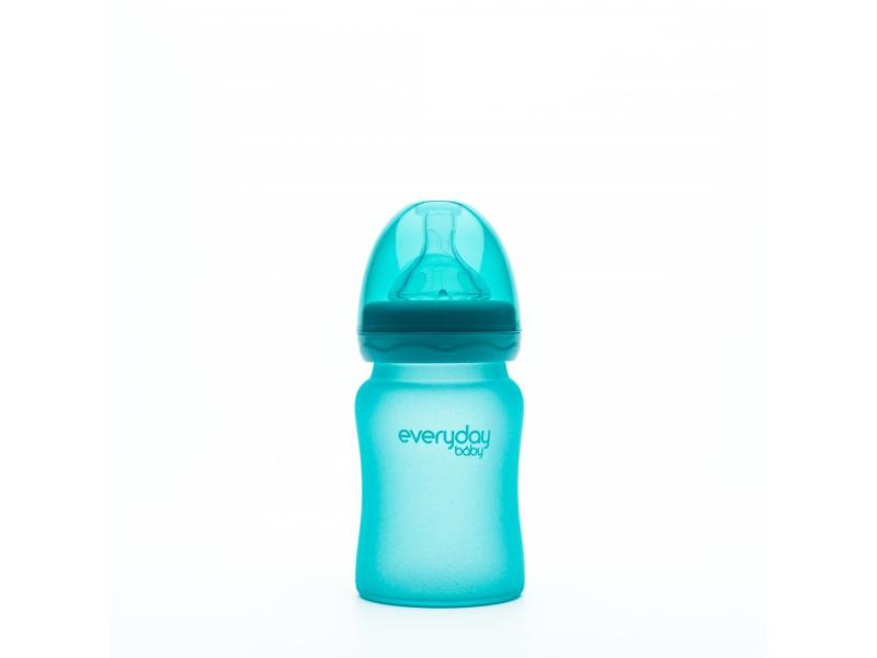 láhev sklo s teplotním senzorem Healthy+ 150 ml Turquoise 1