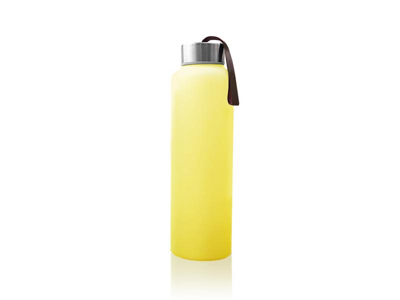 láhev sklo na vodu Bright Yellow 1