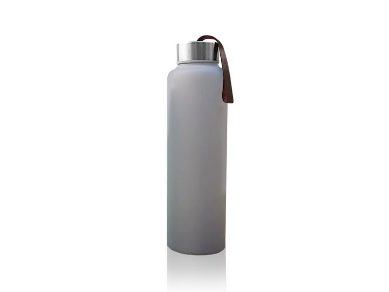 láhev sklo na vodu Quiet Grey 1