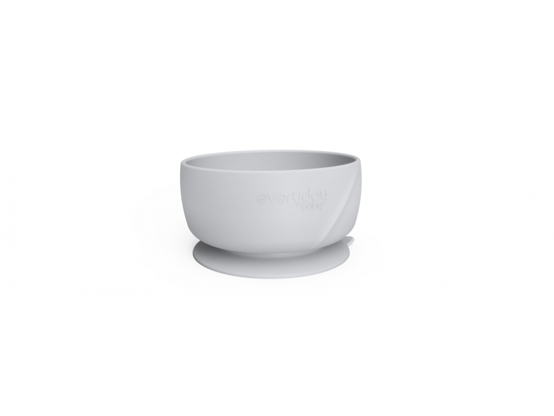 silikonová miska s přísavkou Quiet Grey 1