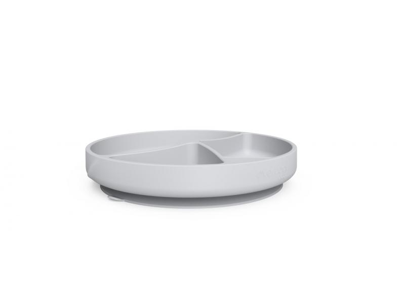silikonový talíř s přísavkou Quiet Grey 1