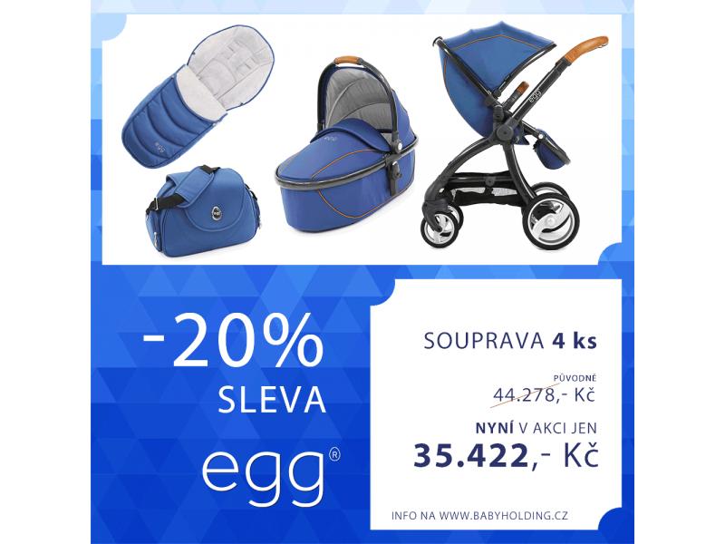 Egg kočárek PETROL BLUE/GUN METAL rám + hluboká korba, fusak, taška