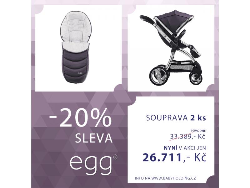 Egg kočárek STORM GREY/MIRROR rám + fusak - STORM GREY