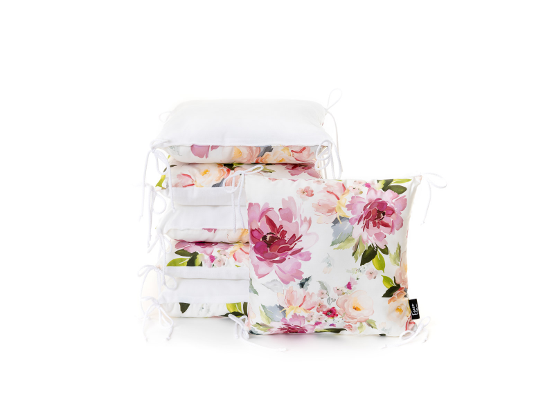 Polštářkový mantinel, watercolor flowers 1