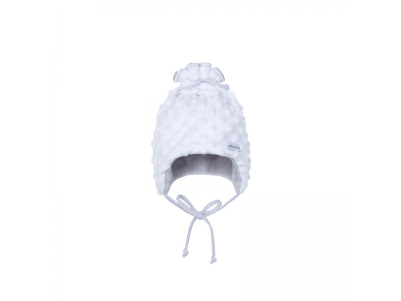 Dětská zimní čepice Minky Teddy | bílá 44 1