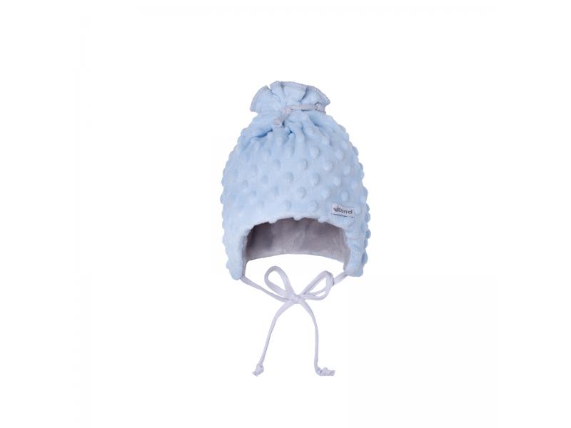 Dětská zimní čepice Minky Teddy | modrá 38 1