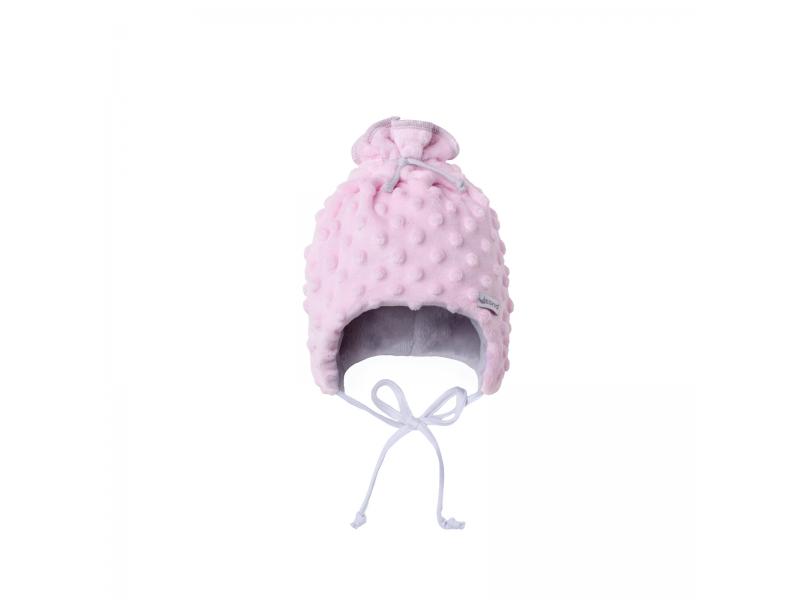 Dětská zimní čepice Minky Teddy | růžová 38 1