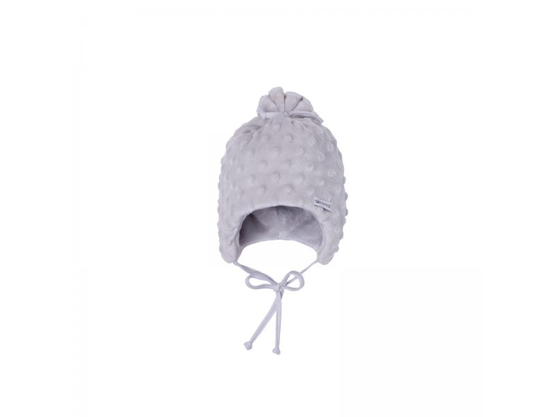 Dětská zimní čepice Minky Teddy | stříbrná 38 1