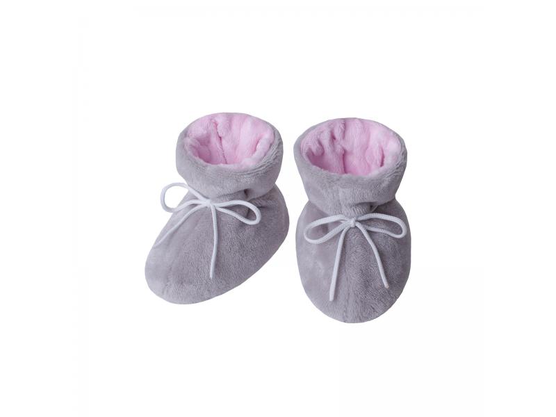 Kojenecké botičky Minky Teddy | růžová 2. ( 5 - 12 měs.) 1