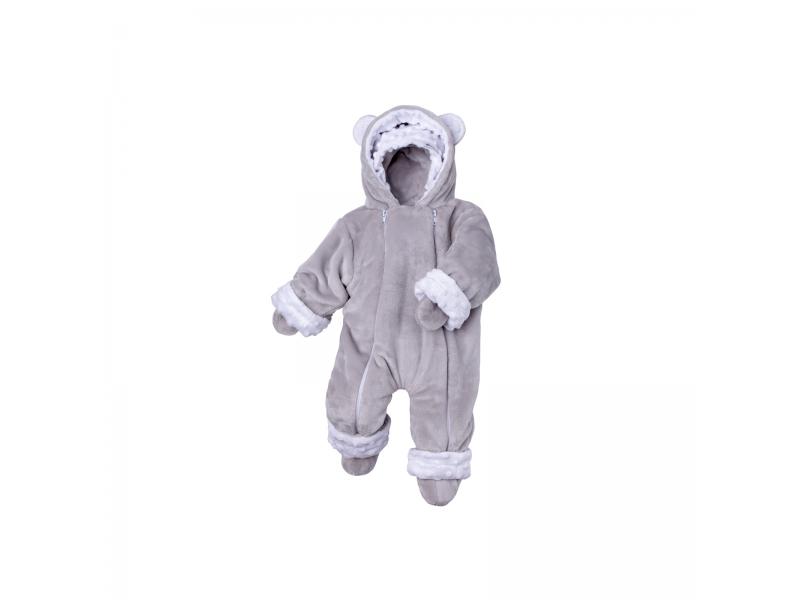 Zimní kojenecký overal Minky Teddy | bílá 68 - 74 1