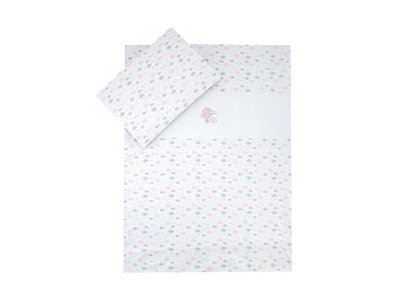 Dětské povlečení Mráček JERSEY, růžová 100x135, 60x40 cm 1