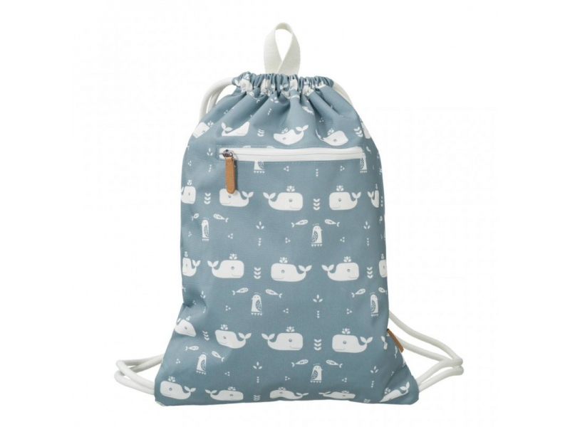 Swimming Bag, Whale Blue Fog 1