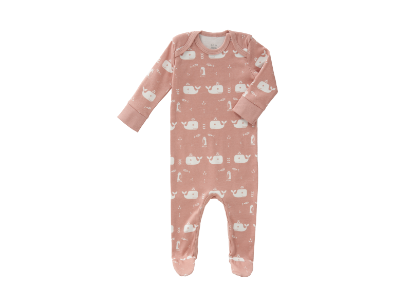 Overal Whale mellow rose, newborn 1