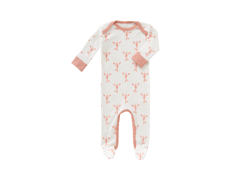 Overal Lobster coral pink, newborn 1