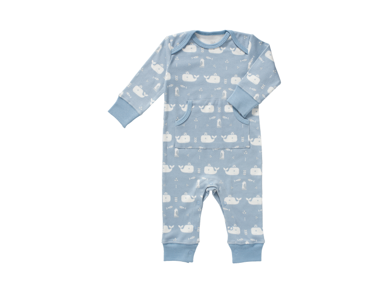 Dětské pyžamo Whale blue fog, newborn 1