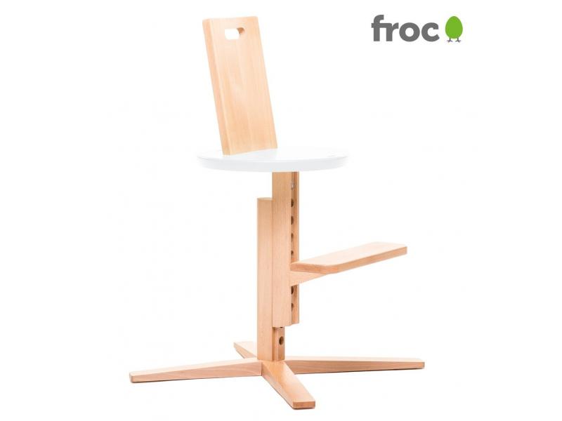 FROC Jídelní židle BÍLÁ