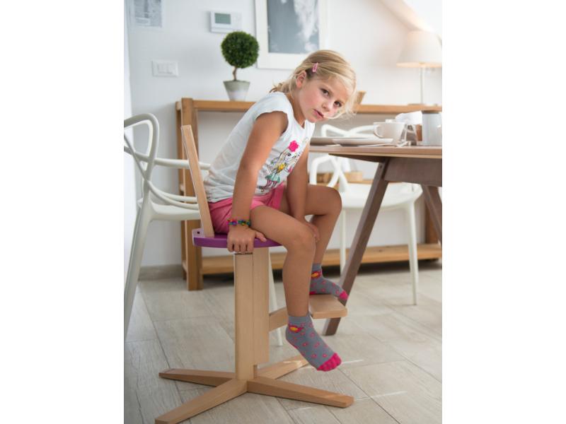 FROC Jídelní židle FIALOVÁ