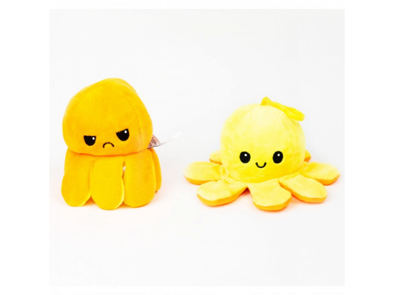 plyšová chobotnice 8cm Yellow/Orange 1