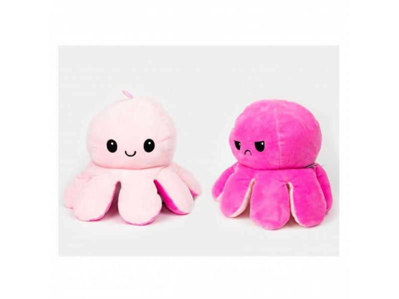 plyšová chobotnice 16cm Pink 1