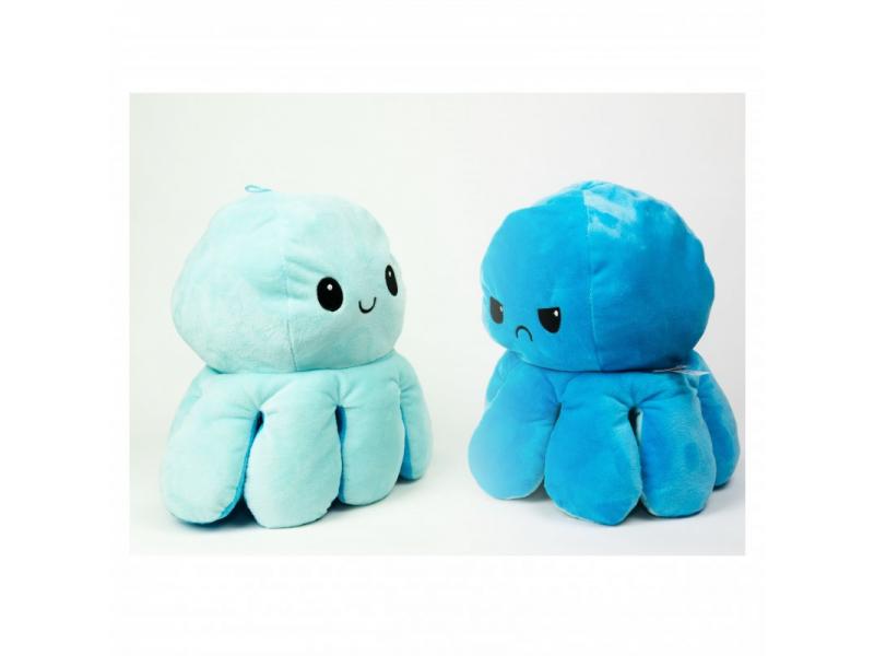plyšová chobotnice 16cm Blue 1