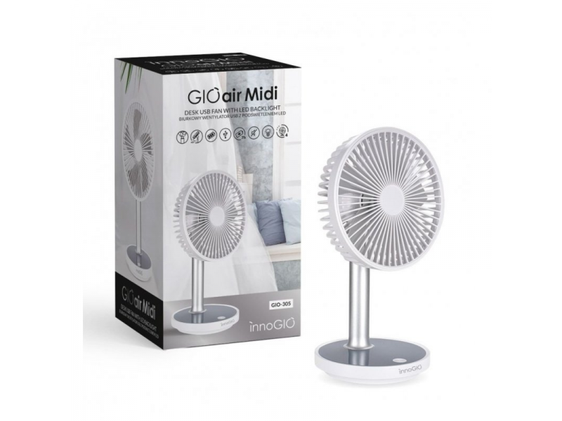 stolní USB ventilátor s podsvícením GIOair Midi 1