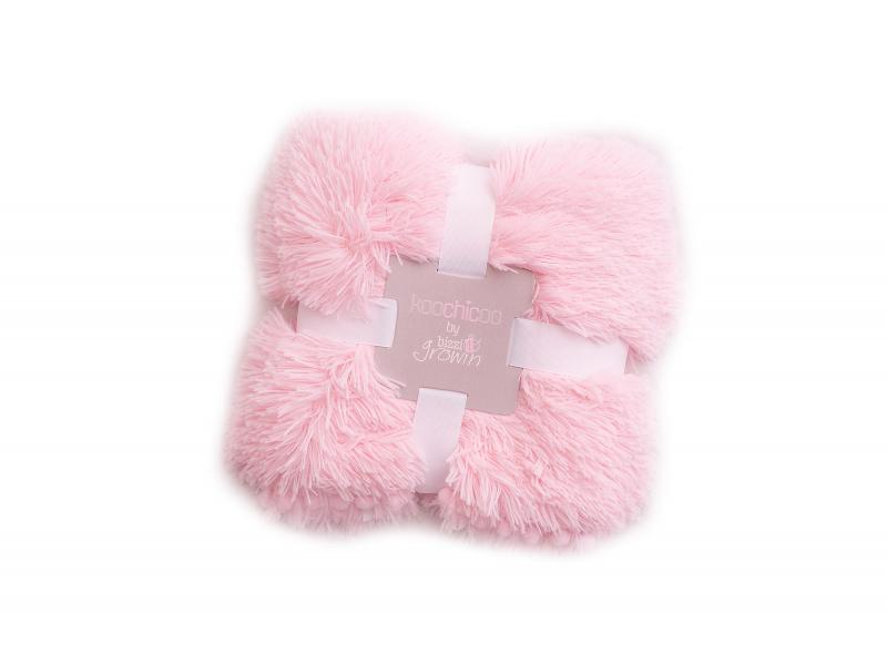 Luxusní deka - růžová 1