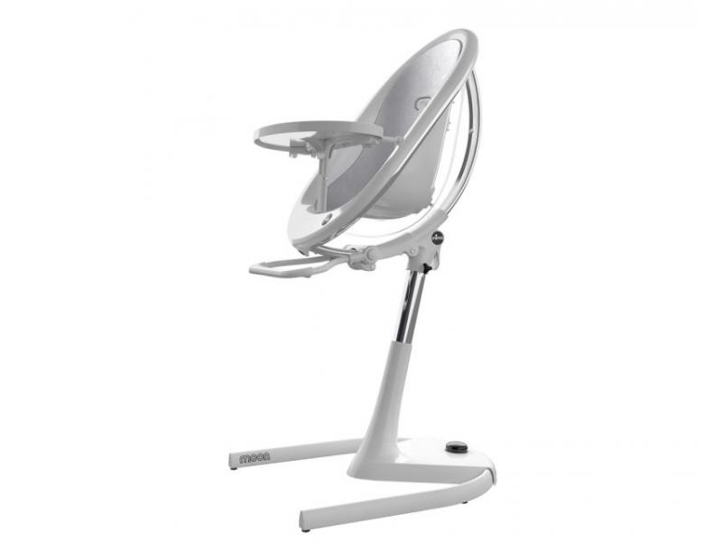 Židlička Moon 2G chrom / průhledná + opěrka nohou 1
