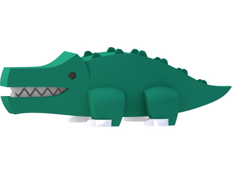 KROKODÝL - magnetická skládací hračka s 3D modelem savany 1