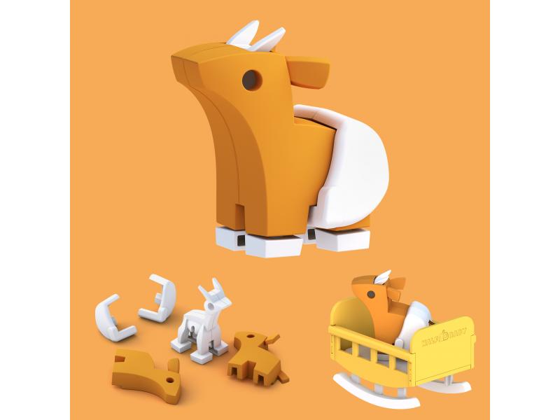 BABY ANTILOPA - magnetická skládací hračka 1