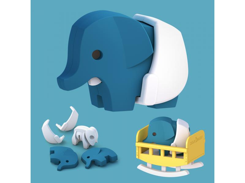 BABY SLON - magnetická skládací hračka 1