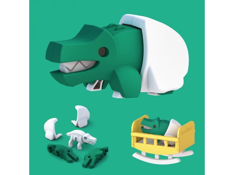 BABY KROKODÝL - magnetická skládací hračka 1