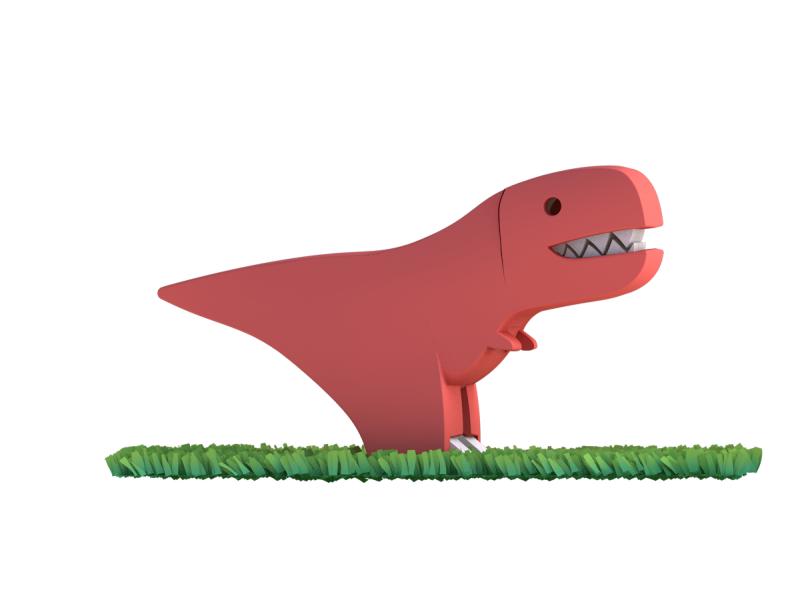 T-REX - magnetická skládací hračka s 3D modelem prostředí 1
