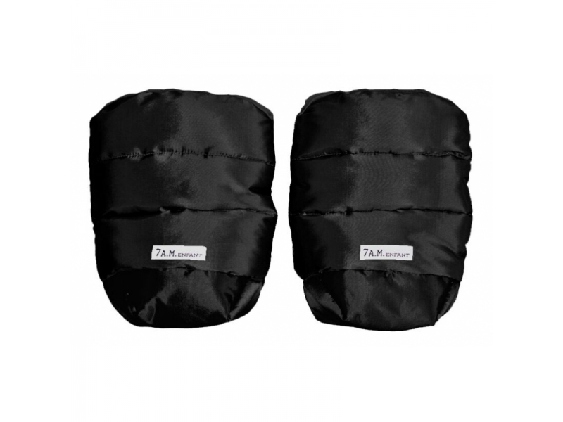 Rukavice na kočárek WarMMuff Black 1
