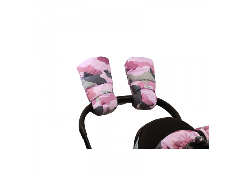 Rukavice na kočárek WarMMuffs Camo Pink 1