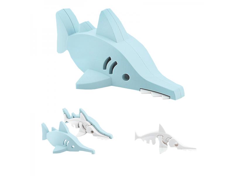 ŽRALOK PILONOS -magnetická skládací hračka s 3D modelem oceánu 1