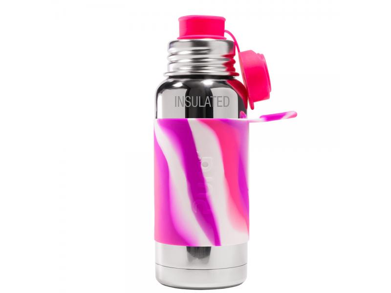 Pura TERMO láhev se sportovním uzávěrem 475ml - růžovo_bílá