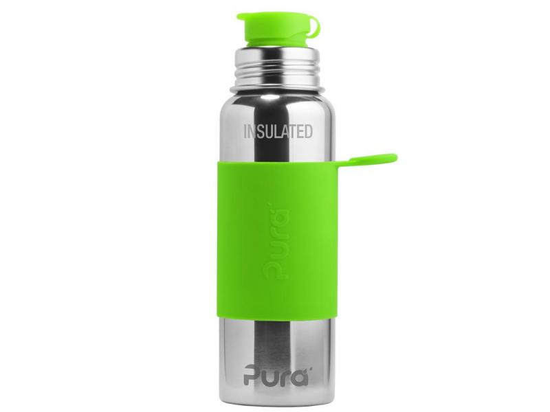 Pura Pura TERMO láhev se sportovním uzávěrem 650ml - zelená