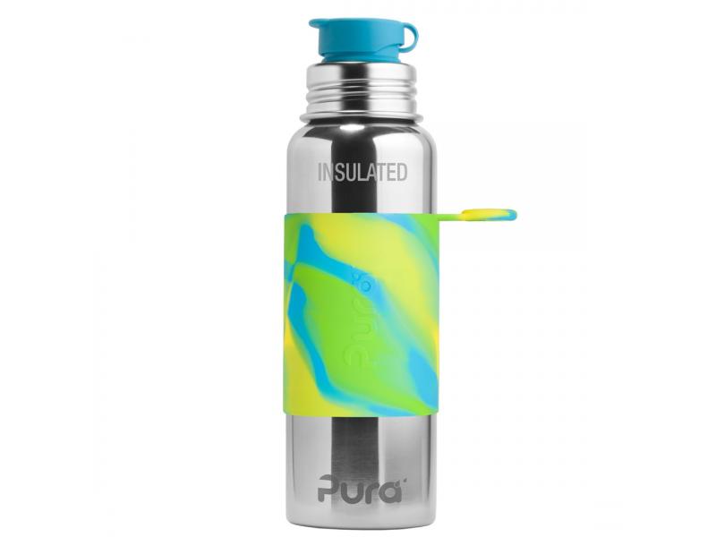 Pura Pura TERMO láhev se sportovním uzávěrem 650ml - zelená-aqua