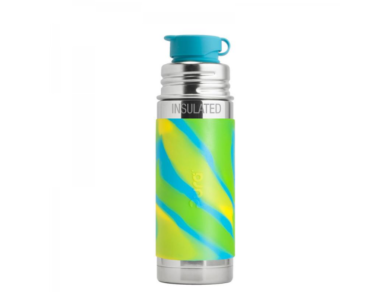 Pura Pura TERMO láhev se sportovním uzávěrem 260ml - zelená-aqua
