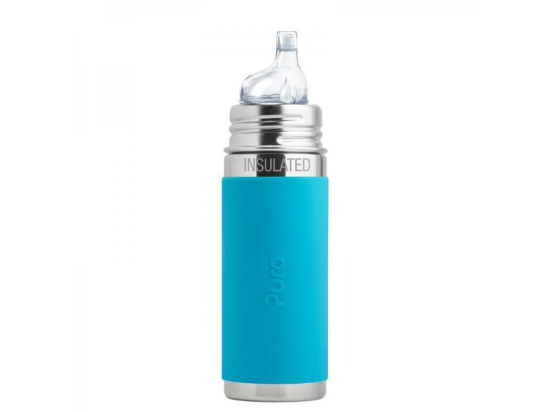 TERMO láhev s pítkem 260ml - aqua 1