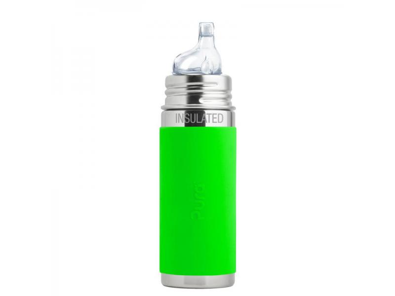 TERMO láhev s pítkem 260ml - zelená 1