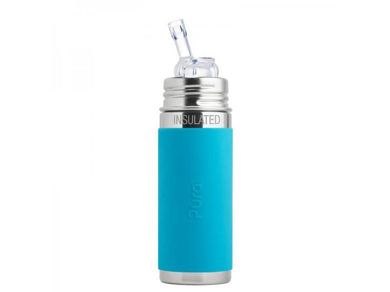 Pura TERMO láhev s brčkem 260ml - aqua