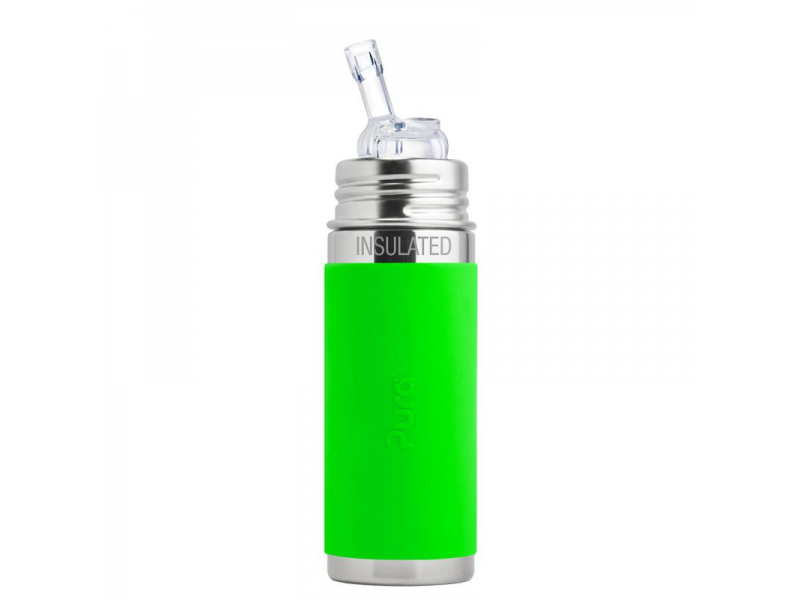 Pura TERMO láhev s brčkem 260ml - zelená
